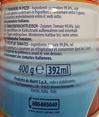 Mutti Polpa Tomatenfruchtfleisch - Ingrediënten - de