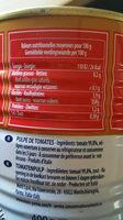 Polpa tomates concassées fines - Nutrition facts