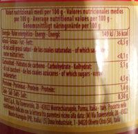Passata Purée de tomate nature 700g - Valori nutrizionali - it