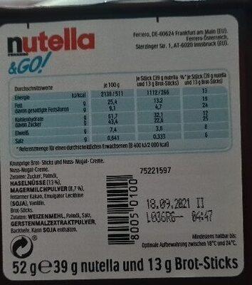 NUTELLA & GO biscuits - Ingredienti - fr