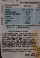 Nutella & Go ! Pâte à tartiner et gressins - Nährwertangaben - fr