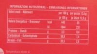 Pocket coffee espresso - Nutrition facts