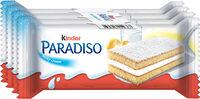 Kinder paradiso gouter frais genoise fourree au lait t4 pack de 4 etuis - Prodotto - fr