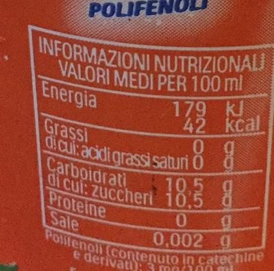 Esta thé - Informazioni nutrizionali - fr