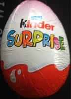 Kinder surprise - Información nutricional