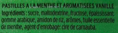Tic Tac Menthe - Ingrédients