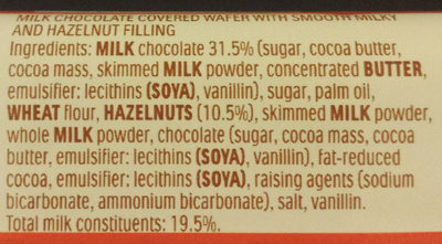 Kinder Bueno - Ingredients