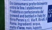 Nastro Azzuro - Ingredients - fr