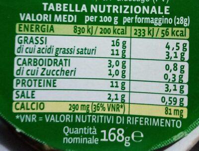 gli stracremosi Crema Bel Paese - Informations nutritionnelles - fr