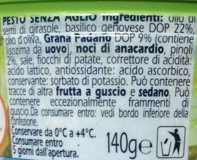 Pesto senza aglio - Ingredients