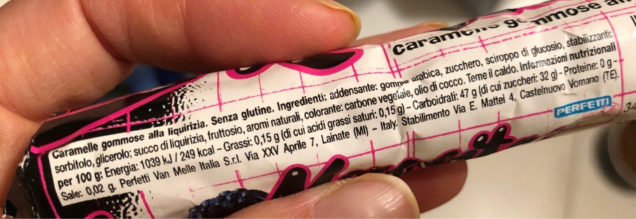 Morositas - Informations nutritionnelles - fr