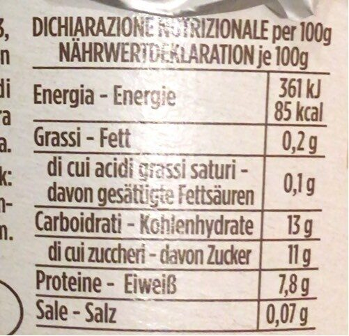Skyr al caffè - Nutrition facts - it