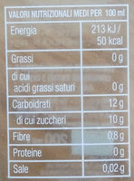 Arancia carota limone - Nutrition facts