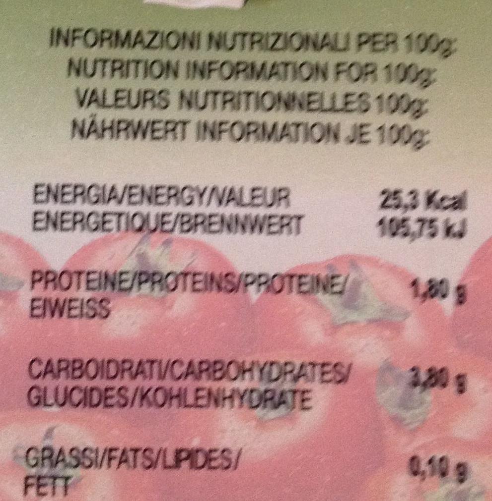 Passata di pomodoro - Informations nutritionnelles - fr