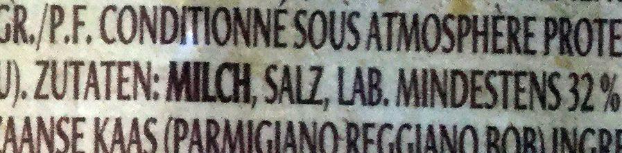 Parmigiano Reggiano râpé frais - Inhaltsstoffe