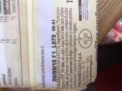 Fettine al Parmigiano reggiano DOP - Ingrédients - fr