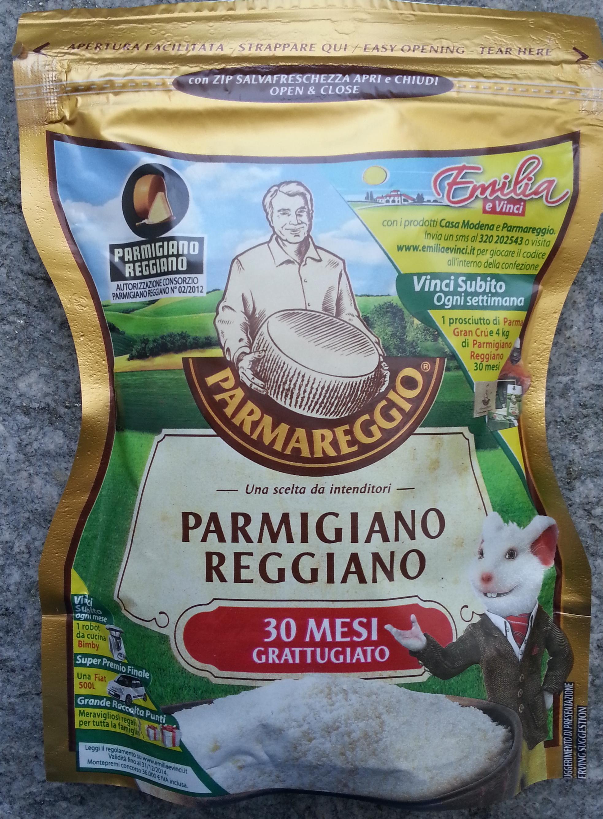 Parmareggio - Parmigiano reggiano DOP 30 mesi grattugiato - Prodotto