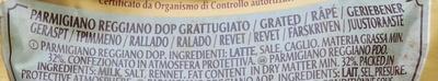 Parmareggio - Parmigiano reggiano DOP 30 mesi grattugiato - Ingredients