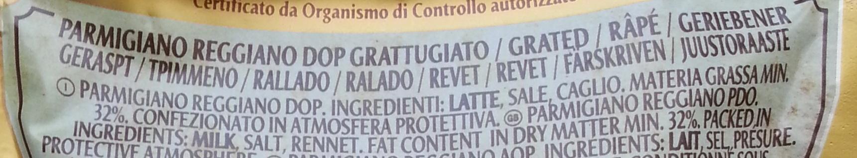 Parmareggio - Parmigiano reggiano DOP 30 mesi grattugiato - Ingredienti