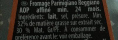 Parmareggio Parmigiano Reggiano - Ingrediënten