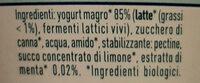 Yogurt magro alla menta - Ingrédients - it