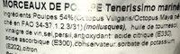 Poulpe mariné - Ingrédients - fr