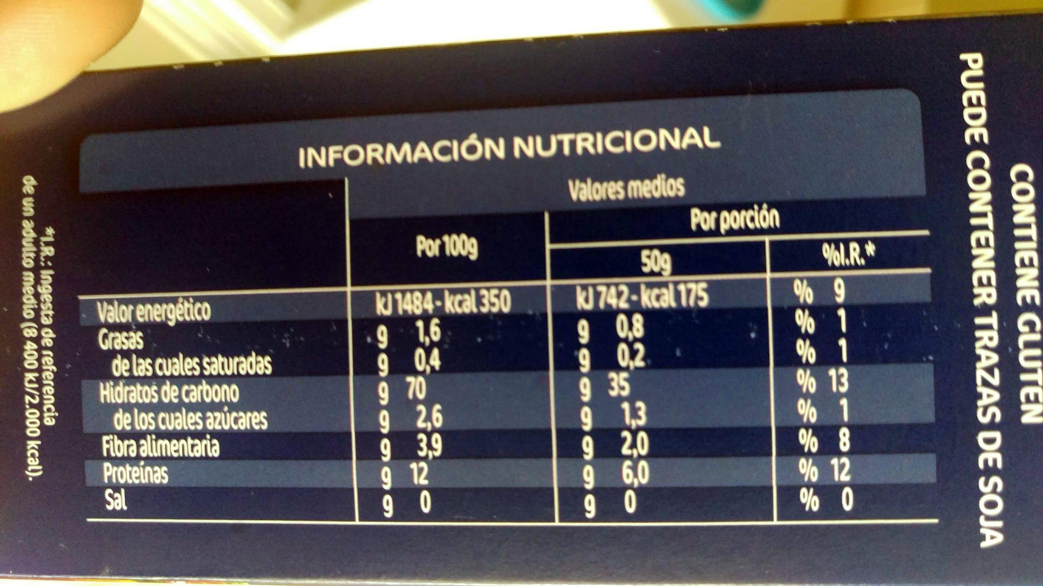 Couscous mediano - Información nutricional