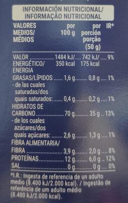 Couscous mediano - Información nutricional - es
