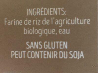 Couscous de Riz Bio - Ingredients