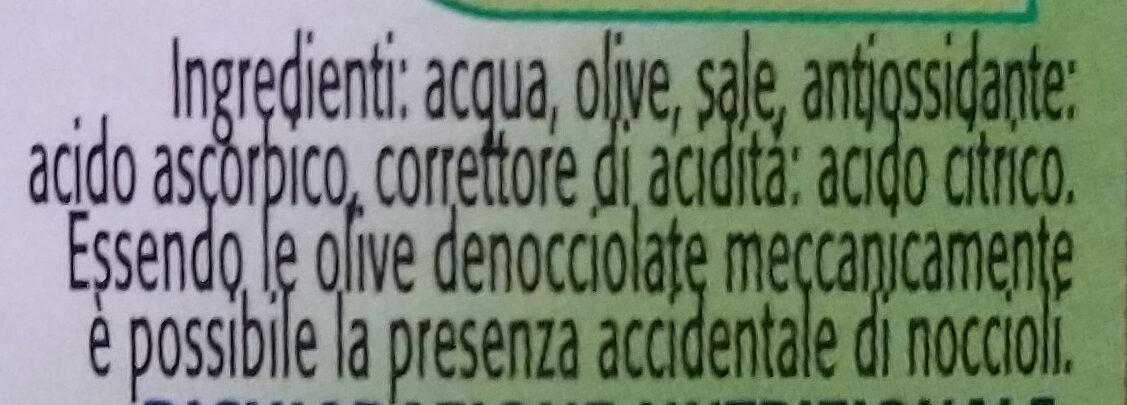 olive verdi snocciolate in salamoia - Ingrediënten - it