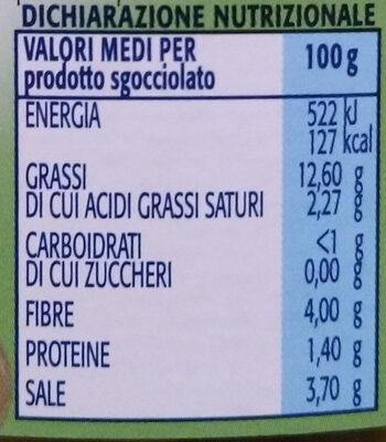 olive verdi snocciolate in salamoia - Voedingswaarden - it