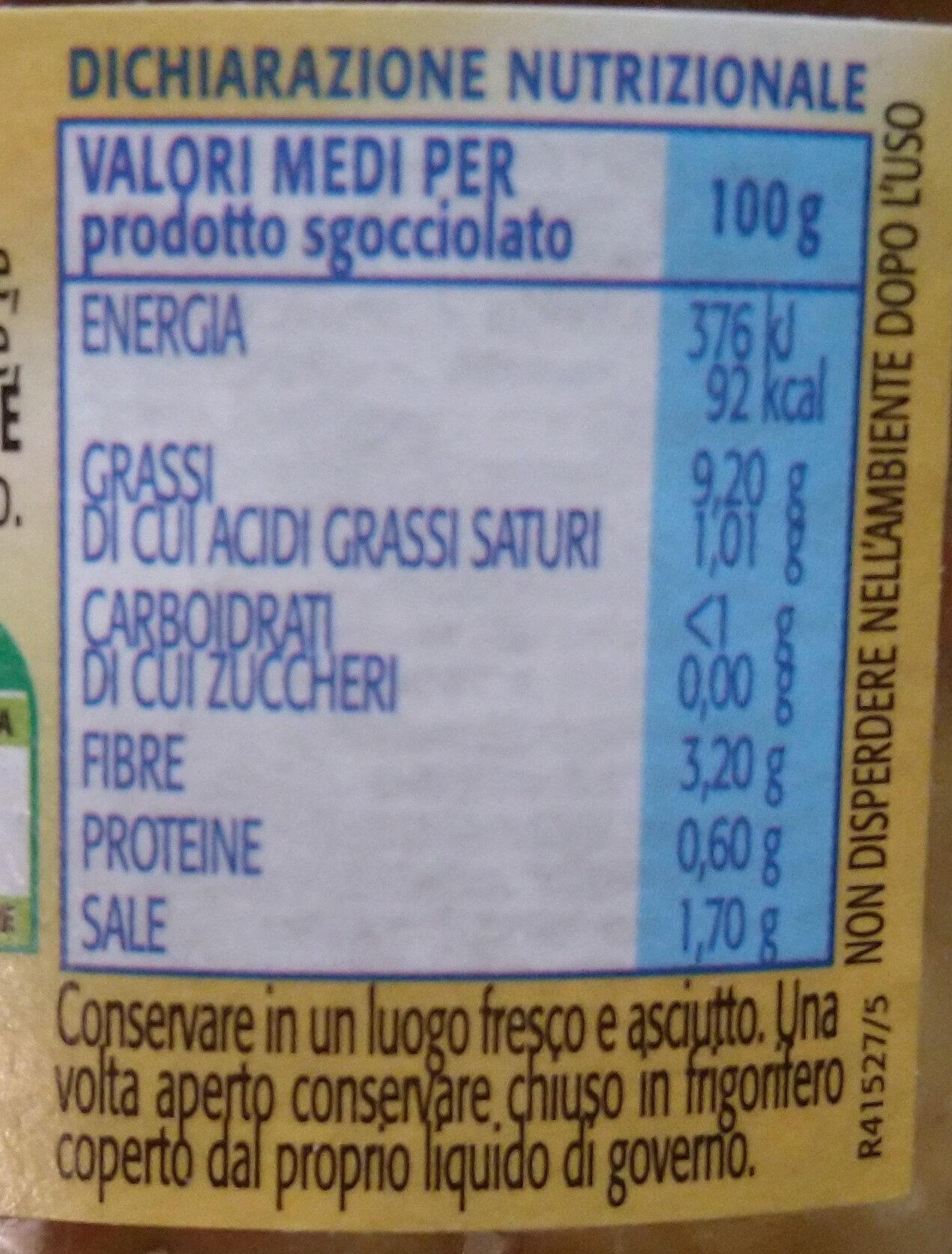 melanzane a filetti - Voedingswaarden - it