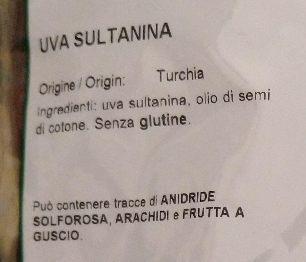 uva sultanina - Ingrediënten - it