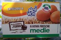 6 uova fresche medie da allevamento a terra - Product - it