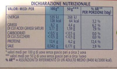 6 uova fresche medie da allevamento a terra - Voedingswaarden - it