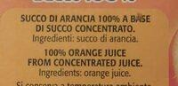 Arancia succo 100% - Ingrediënten - it