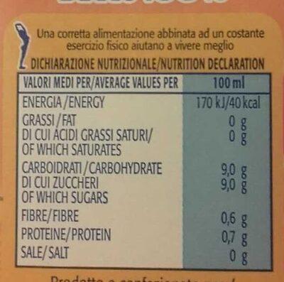 Arancia succo 100% - Voedingswaarden - it