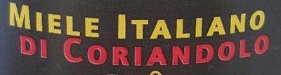 Miele Italiano di Coriandolo - Ingrédients - fr
