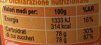 Miele di arancio - Voedingswaarden - it