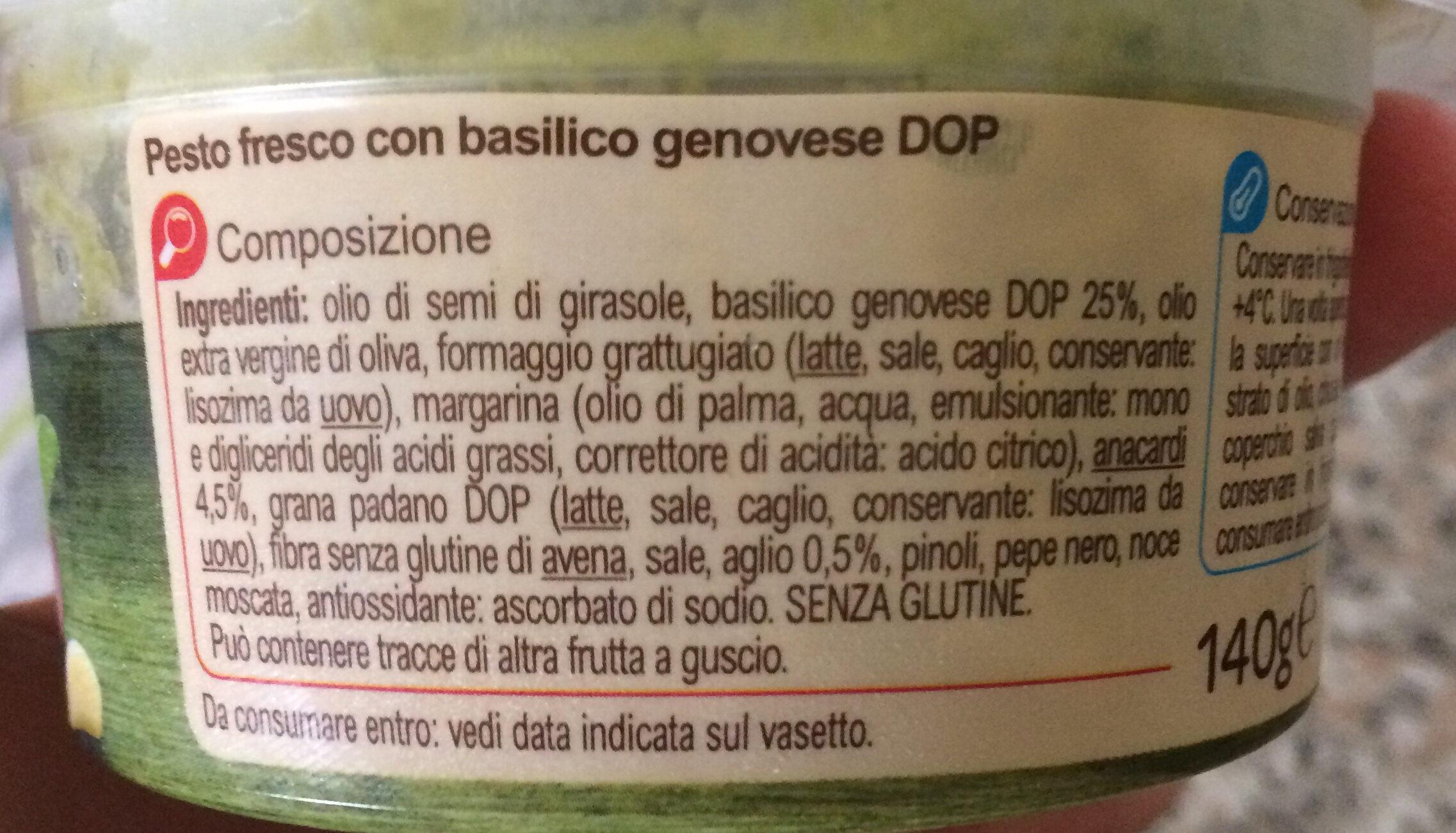 Pesto classico - Ingredients