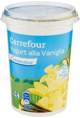 Carrefour Yogurt alla Vaniglia cremoso - Produit