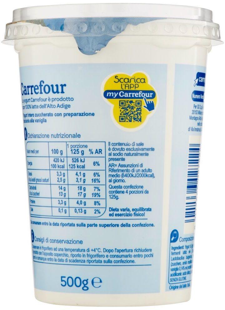 Carrefour Yogurt alla Vaniglia cremoso - Informations nutritionnelles