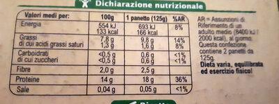 Tofu al naturale - Voedingswaarden