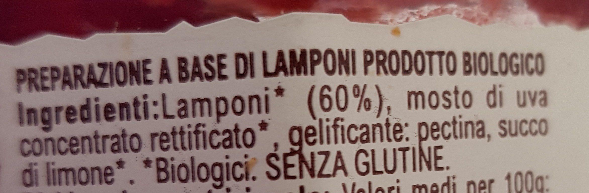 Cuor di lampone - Ingrediënten - it
