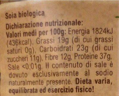 Soia gialla biologica - Informations nutritionnelles - it