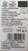 Parmegiano Reggiano DOP - Nutrition facts - it