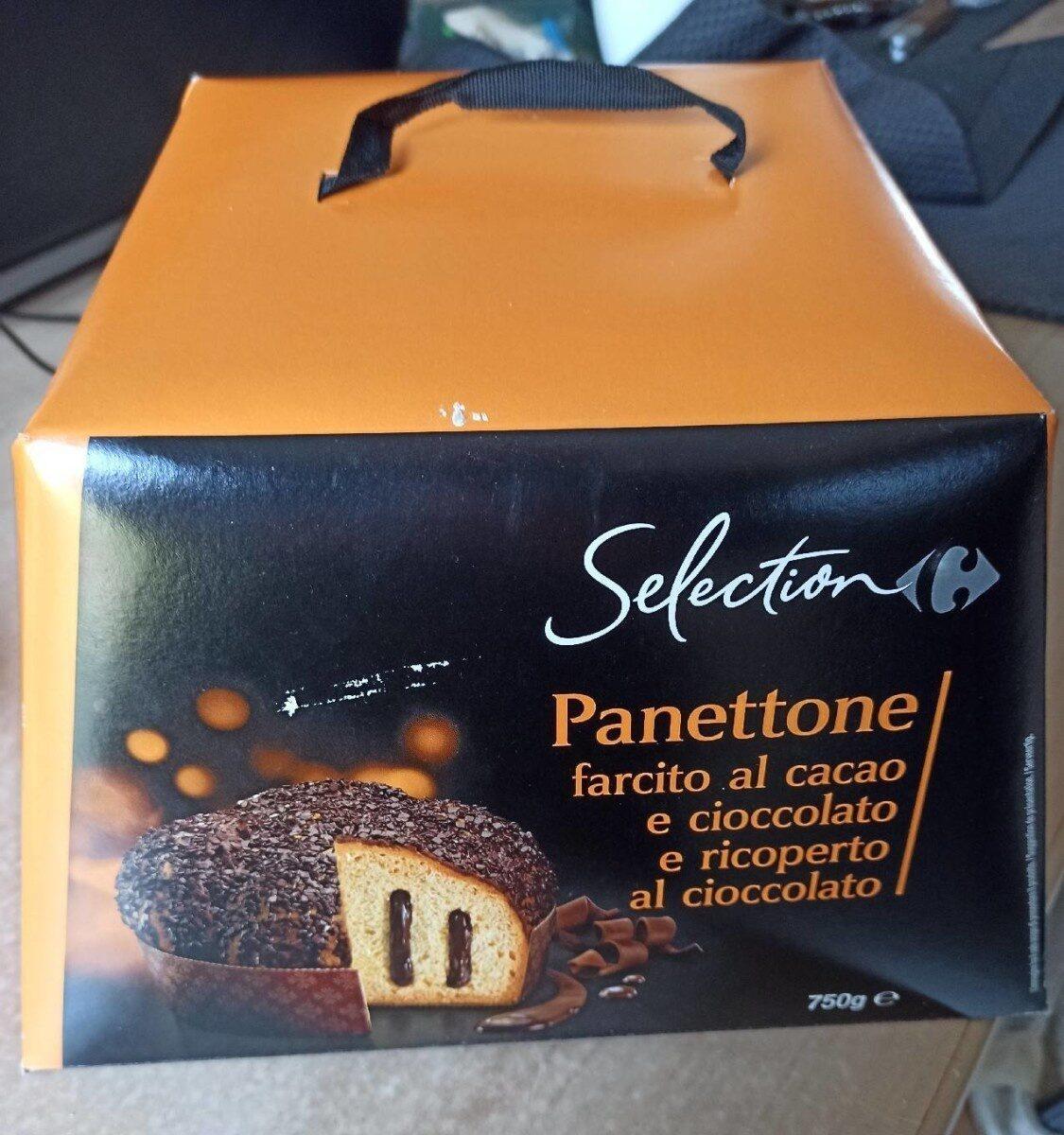 Panettone fourré au cacao et chocolat noir - Produit - fr