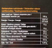 Panettone fourré au cacao et chocolat noir - Informations nutritionnelles - fr