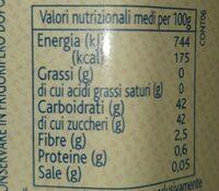 Confettura extra di mirtilli - Valori nutrizionali - it