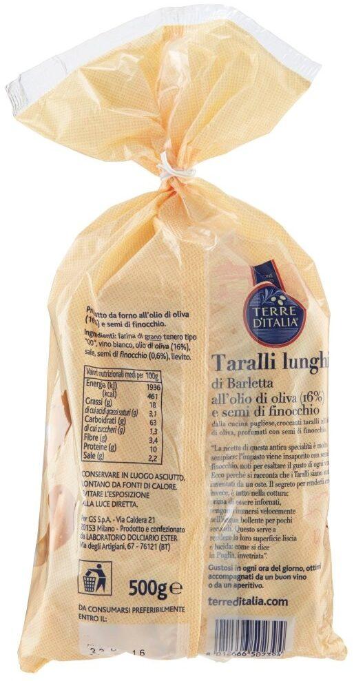 Terre D'italia Olive Oil Breadsticks - Informations nutritionnelles